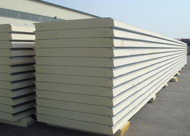 China Insulated Polyurethane Sandwich Panels Polyurethane Foam Wall Panels For Clean Rooms factory