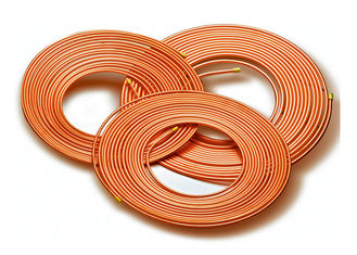China Soft Type Pancake Coil Copper Refrigeration Tubing15-50m Length JISH3300 Standard factory