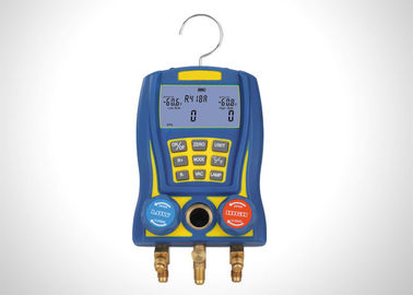 China High Accuracy R134A Refrigerant Gauge Set / Digital Ac Manifold Gauges Shockproof factory