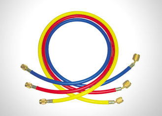"Red Yellow Blue R134a Charging Hose , Ac Refrigerant Hose With 1/4"" SAE Connection"
