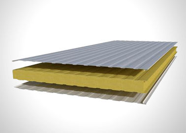 China Energy Saving Pu Foam Sandwich Panel , Polyurethane Building Panels For Cold Room factory