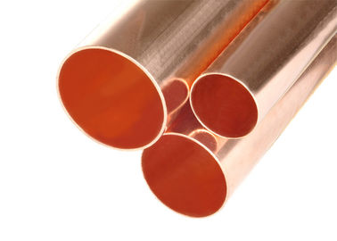 China Custom Size Copper Plumbing Pipe , Air Conditioning Copper Tubing Smooth Surface factory