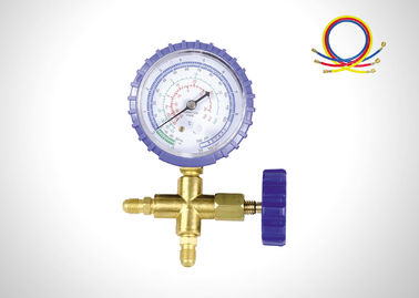 China Blue Jacket Single Air Conditioning Gauge Set , HAVC Digital Manifold Gauge Set supplier