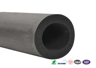"Grade B Fireproof  Air Conditioner Pipe Insulation Foam 3-1/8"" 55Kg/CBM Density"
