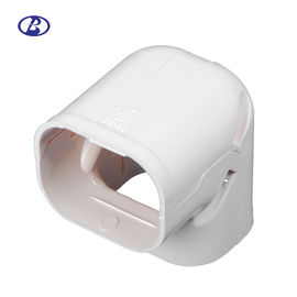China Screw Mount Air Conditioner Pipe Cover Heat Resistant PVC Material White Color factory