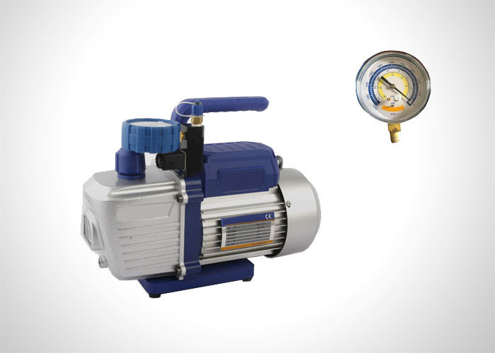 2 Stage Refrigeration Rotary Vane Vacuum Pump With Solenoid Valve 1.5-12 CFM supplier