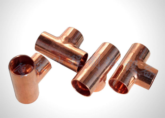 Residential Refrigeration Copper Tubing Pipe Fittings Copper Equal Tee  Easy To Braze supplier