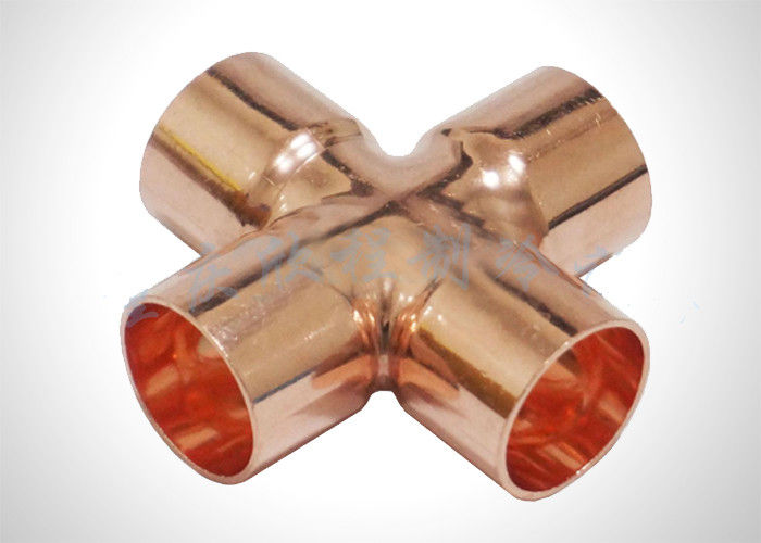 Refrigeration Pipe Fittings Copper Cross Fitting for Hvac With ASTM Standard supplier