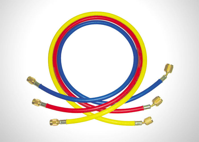 "800PSI Working Pressure Hvac Charging Hoses With 1/4"" SAE And 5/16"" SAE Connection supplier"