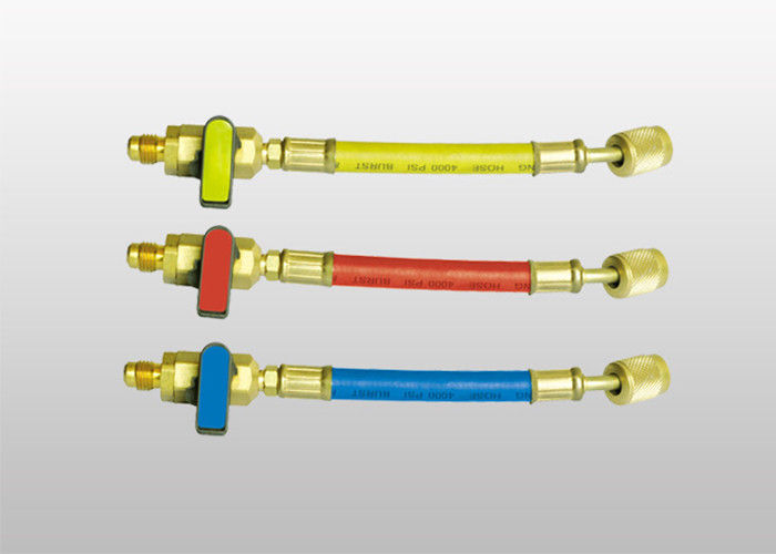 Durable Manifold Gauge Set R410A 800PSI Refrigerant Charging Hose supplier