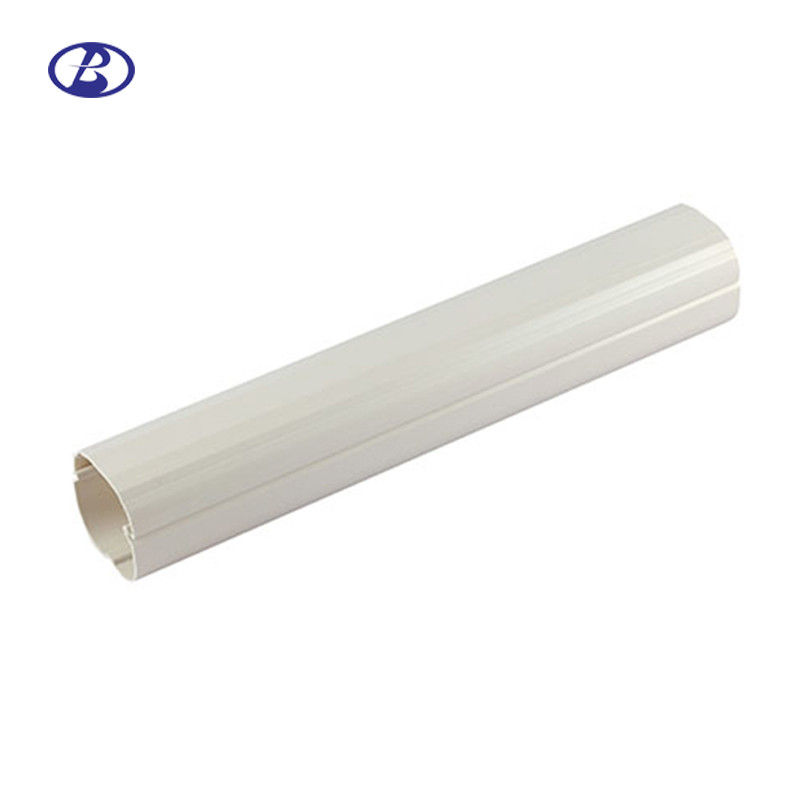 100mm Strong Split Air Conditioner Pipe Cover White PVC Decorative Duct supplier
