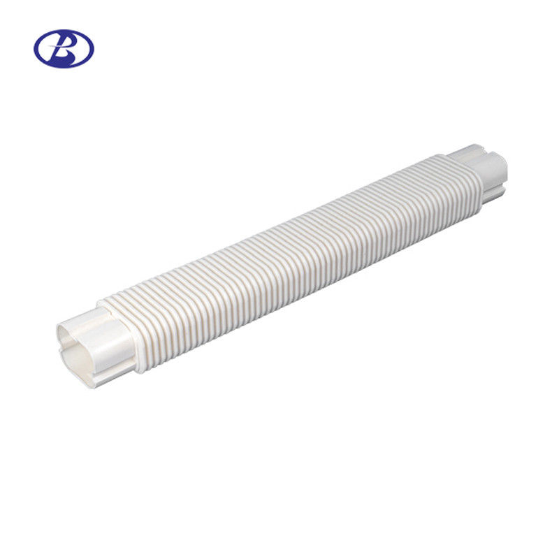 130mm Air Conditioner Pipe Cover White Decorative PVC Flexible Duct Free Joint supplier