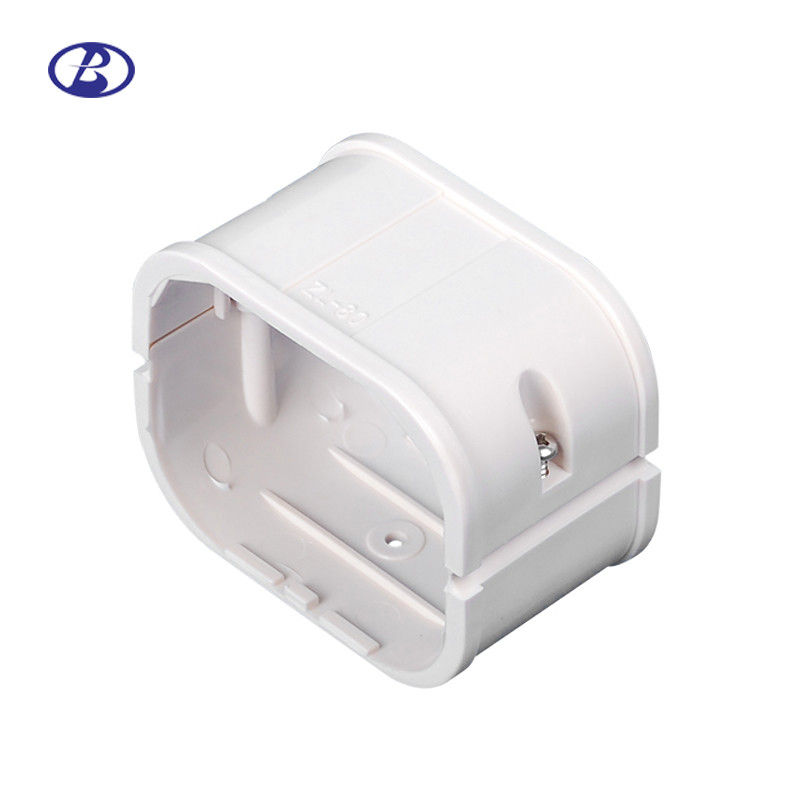 80mm White PVC Decorative Duct Kits Split Air Conditioner Pipe Cover  Joint Straight Coupling supplier