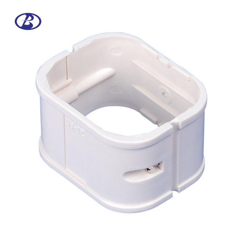 100mm White PVC Decorative Duct Kits Split Air Conditioner Pipe Cover Joint Straight Coupling supplier