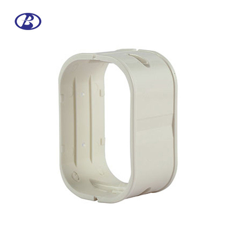 150mm White PVC Decorative Duct Kits Split Air Conditioner Pipe Cover Joint Straight Coupling supplier