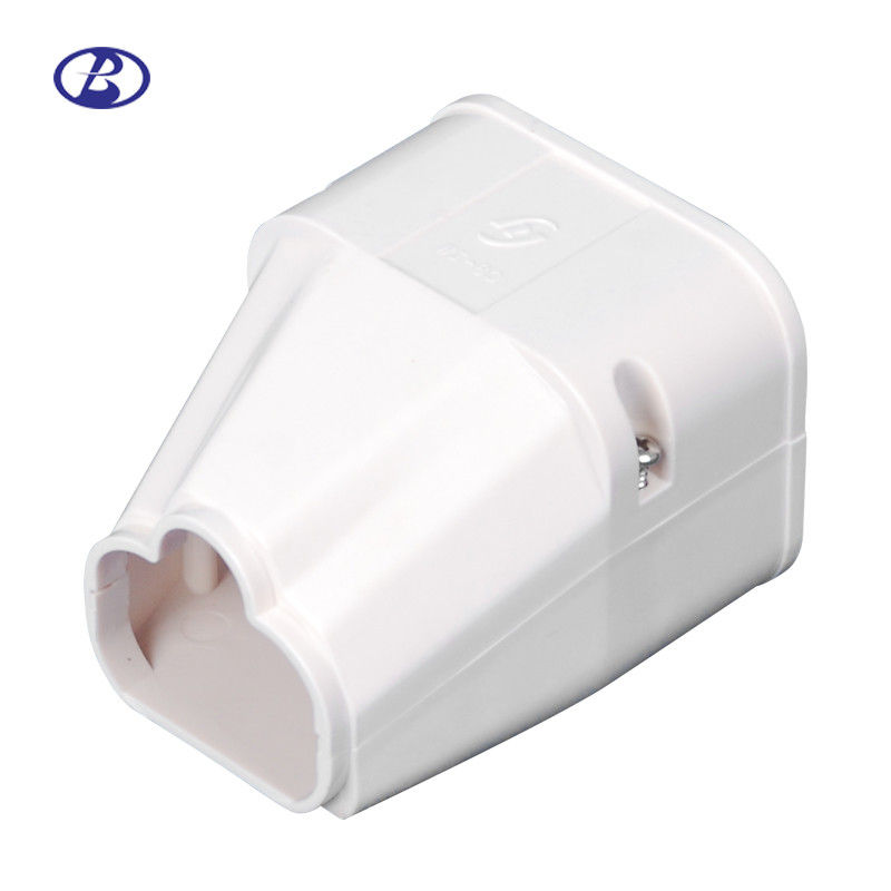 80mm Decorative Duct Kits Split Air Conditioner Pipe Cover Fitting PVC End Cover supplier