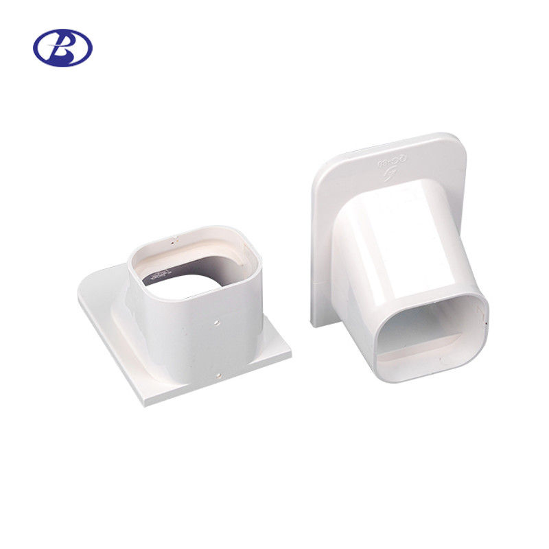 80mm 100mm White PVC Decorative Duct Kits Split Air Conditioner Pipe Cover Fitting Ceiling Cap supplier