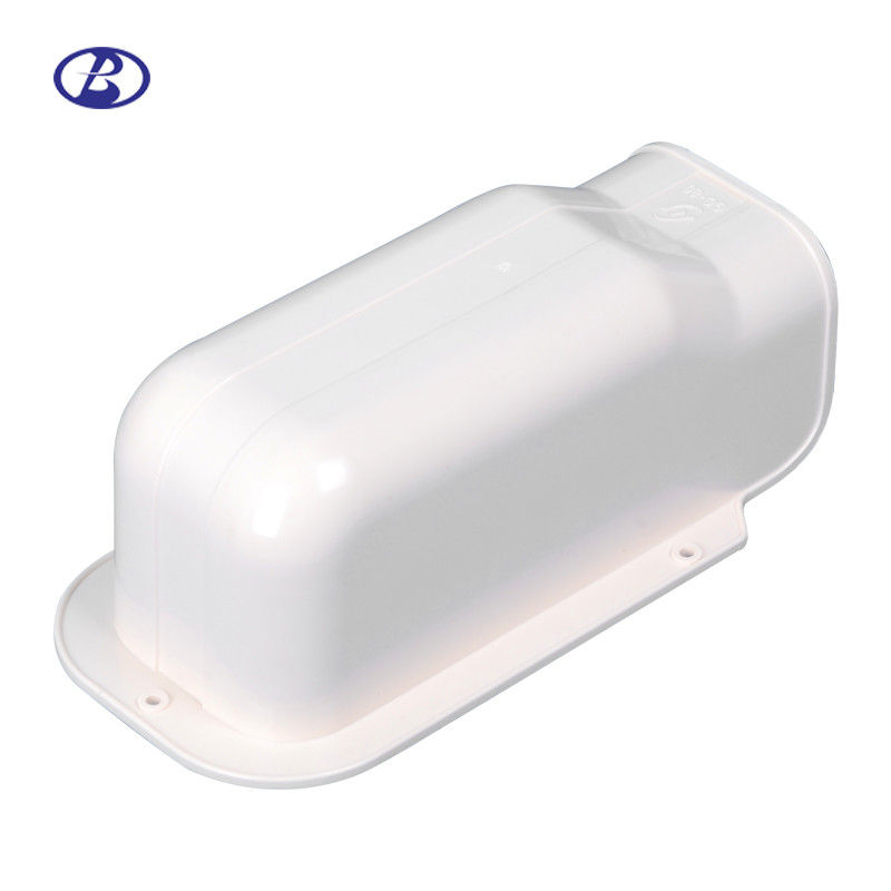80mm White Split Air Conditioner Pipe Cover PVC Decorative Duct Kits Fitting Wall Cover supplier