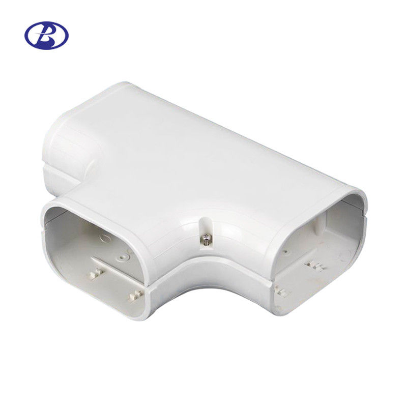 100mm AC Duct PVC Air Conditioner Pipe Cover Duct T-Joint Tee Joint supplier