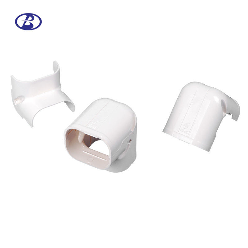 White Color PVC Ac Pipe Cover , 80mm White Ac Line Set Cover CE Certification supplier