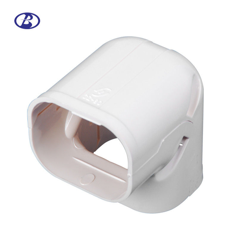 Screw Mount Air Conditioner Pipe Cover Heat Resistant PVC Material White Color supplier