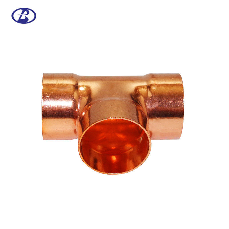Anti Corrosion Refrigeration Copper Fittings Copper Tee Three Way Coupling supplier