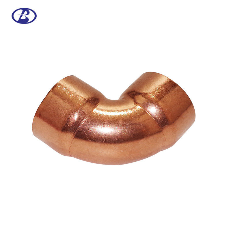 90 Degree Angle Hvac Copper Fittings 32Mpa Pressure Smooth Clean Surface supplier