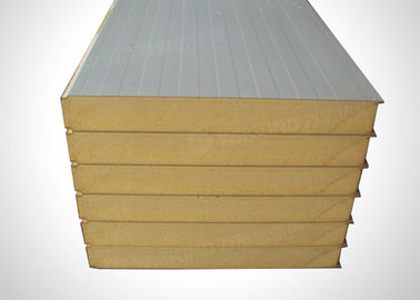 Acoustic Insulation Polyurethane Sandwich Panels Customized Width / Length
