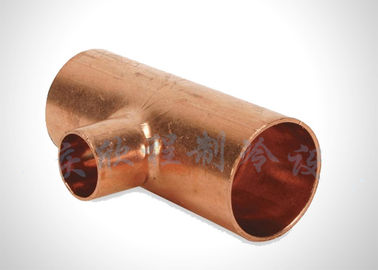 Customized Size Refrigeration Pipe Fittings Copper Reducing Tee Anti Corrosion