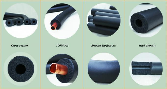 High Density Ac Coolant Line Insulation , 1-5 8 Foam Pipe Insulation Roll