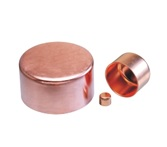 Refrigeration Pipe Fittings Wrought Copper Pipe End Cap Plumbing or HVAC Copper Pipe Fittings