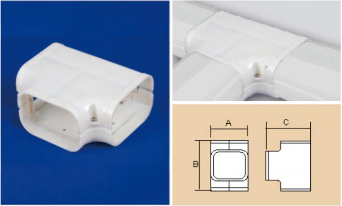 100mm AC Duct PVC Air Conditioner Pipe Cover Duct T-Joint Tee Joint