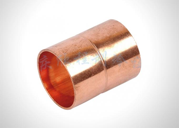 Straight Refrigeration Pipe Fittings Copper Pipe Coupling For HVAC / Plumbing