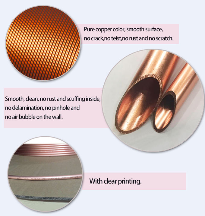 LWC Copper Refrigeration Tubing Hard Drawn Copper Pipe for Refrigeration and Plumbing
