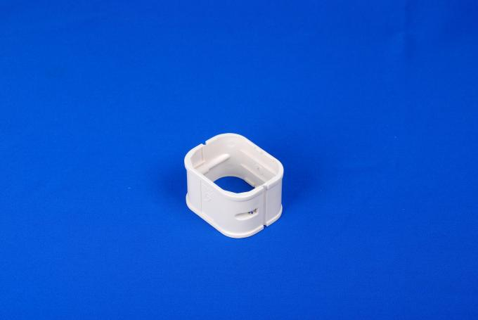 130mm White PVC Split Air Conditioner Pipe Cover Joint Decorative Duct Kits Straight Coupling